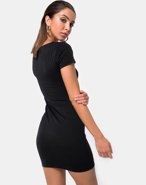 Shimmie Bodycon Dress in Black by Motel