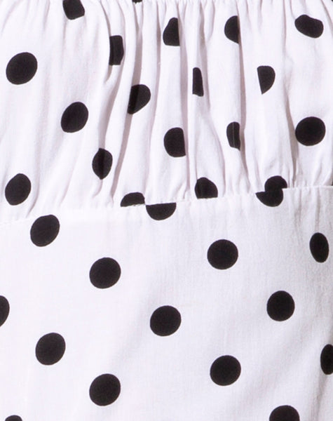 Varie Mini Dress in 80's Polka White by Motel