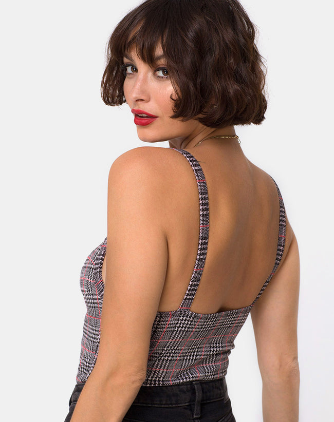 Soares Bodice in Charles Check Blush by Motel