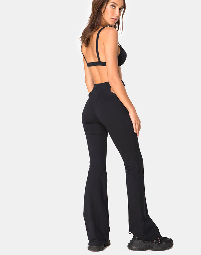 Rogen Flare Trouser in Black by Motel
