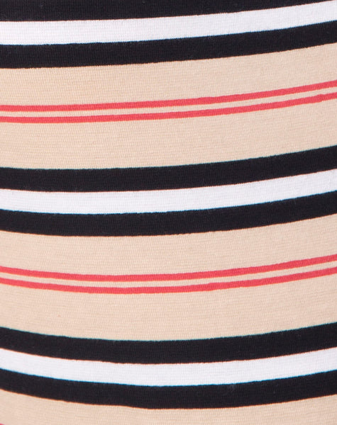 Sol Bodice in Classic Stripe Horizontal by Motel