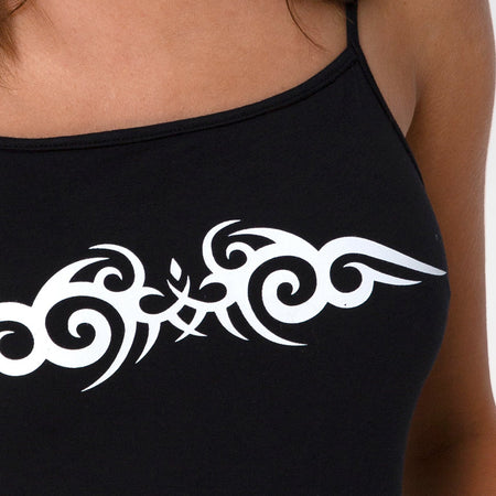 Solemo Bodice in Black with White Tribal by Motel