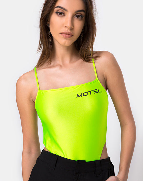 Solemo Bodice in Nylon Green Motel by Motel