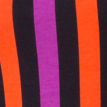 Solita Unitard in Purple and Orange Stripe