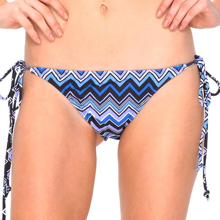 Sugar Bikini Bottom in Chevron Blue by Motel