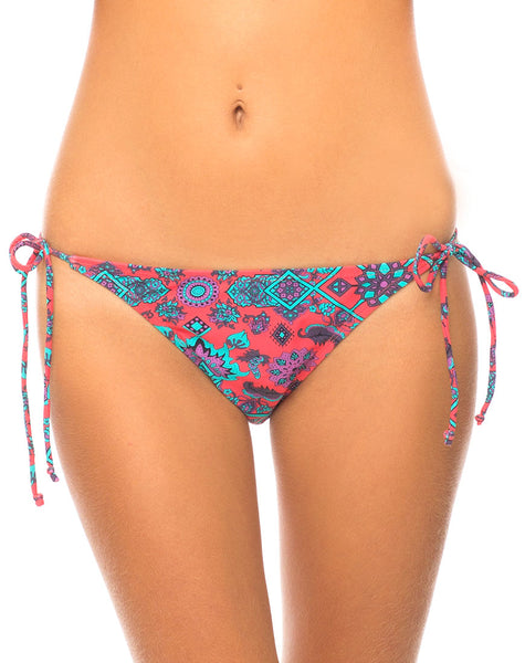 Motel Sugar Tie Bikini Bottom in Magic Carpet