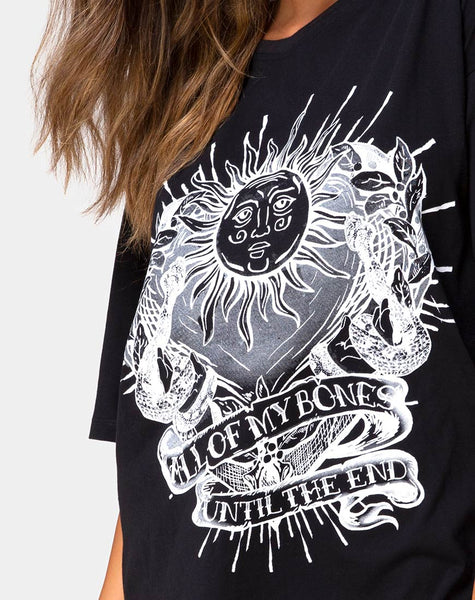 Sunny Kiss Tee in Black All of My bones by Motel