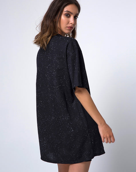 Sunny Kiss Oversize Tee in Black Cosmic Conspiracy by Motel