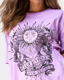 Sunny Kiss Tee in Lilac All of My Bones by Motel