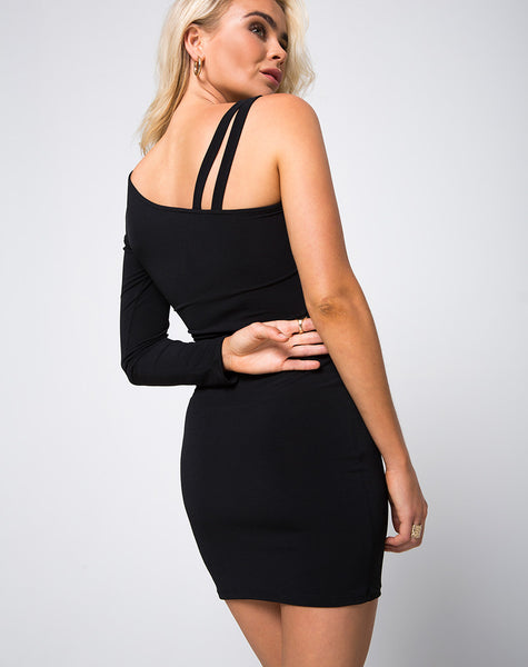 Swalla Bodycon Dress in Black by Motel