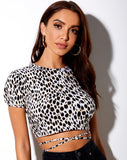 Tasya Crop Top in Cheetah by Motel
