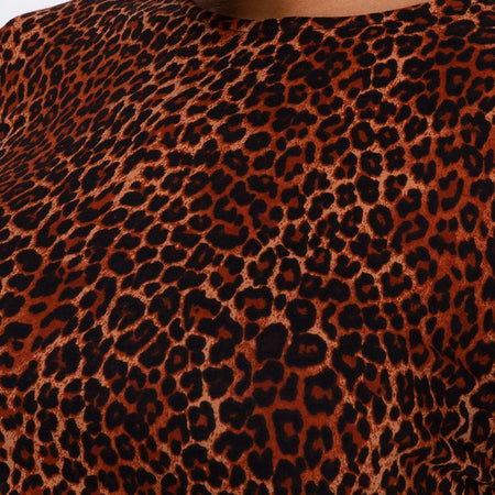 Tasya Top in Ditsy Leopard Orange