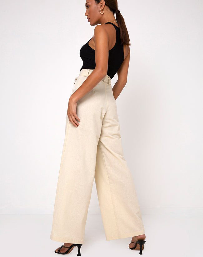Yeva Flare Trousers in Ecru