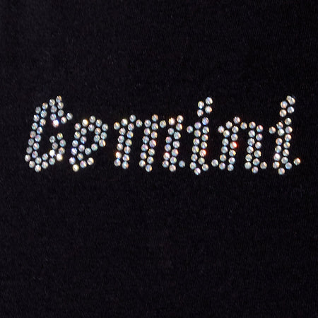 Tiney Crop Tee in Black 'Gemini' Diamante