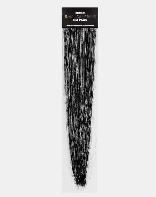 Black Tinsel Hair Extension by Gypsy Shrine