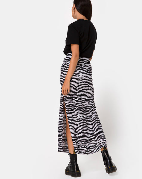 Tinxi Skirt in Animal Drip Grey
