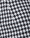 Topaz Mini Skirt in Houndstooth Check Black and White
