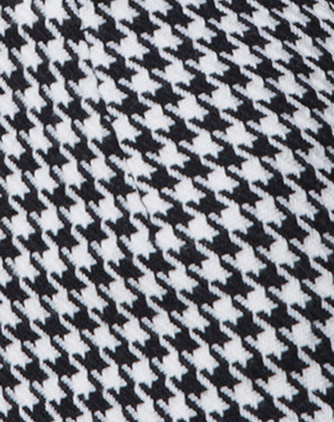 Topaz Mini Skirt in Houndstooth Check Black and White by Motel