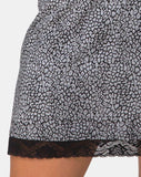 Urila Mini Skirt in Ditsy Leopard Grey by Motel