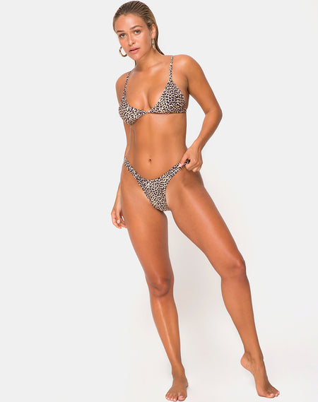Mone Bottom Bikini in Glitter Pink by Motel