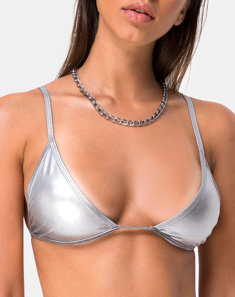 Valter Bikini Top in Silver by Motel