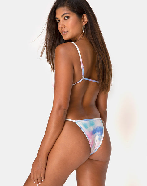 Valter Bikini Top in Tie Dye Pastel by Motel