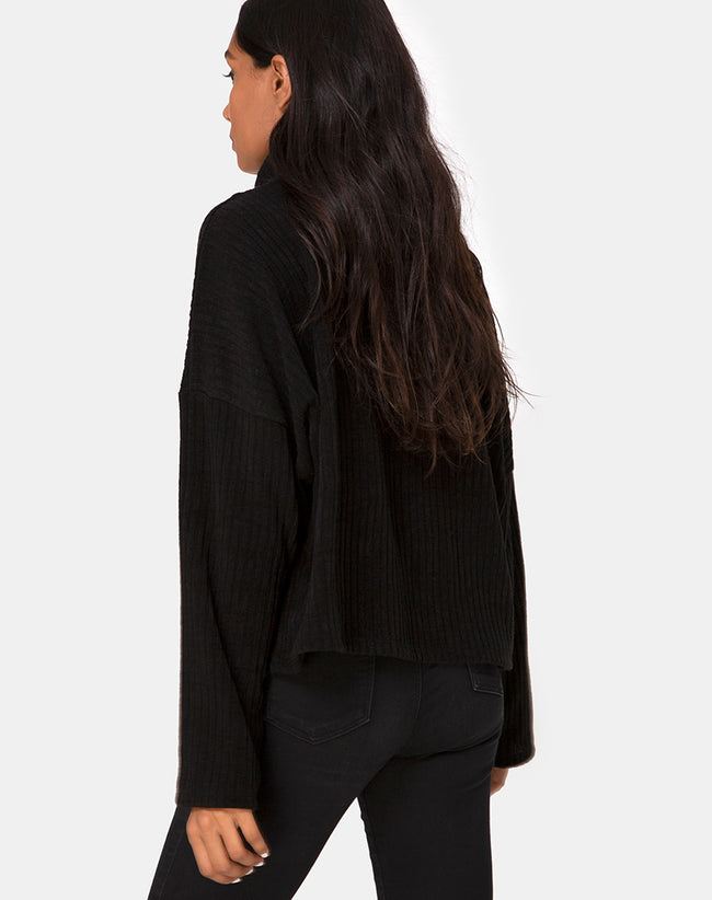 Vinnie Jumper in Knit Black by Motel