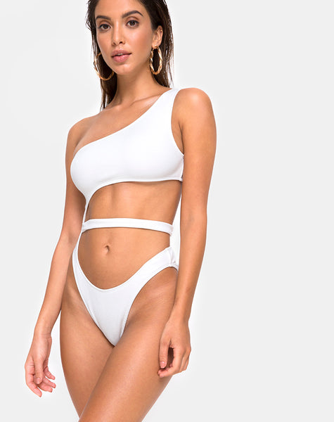 Vixie Swimsuit in White by Motel