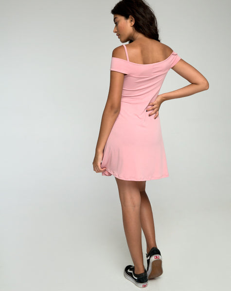 Widuri Skater Dress in Blush by Motel