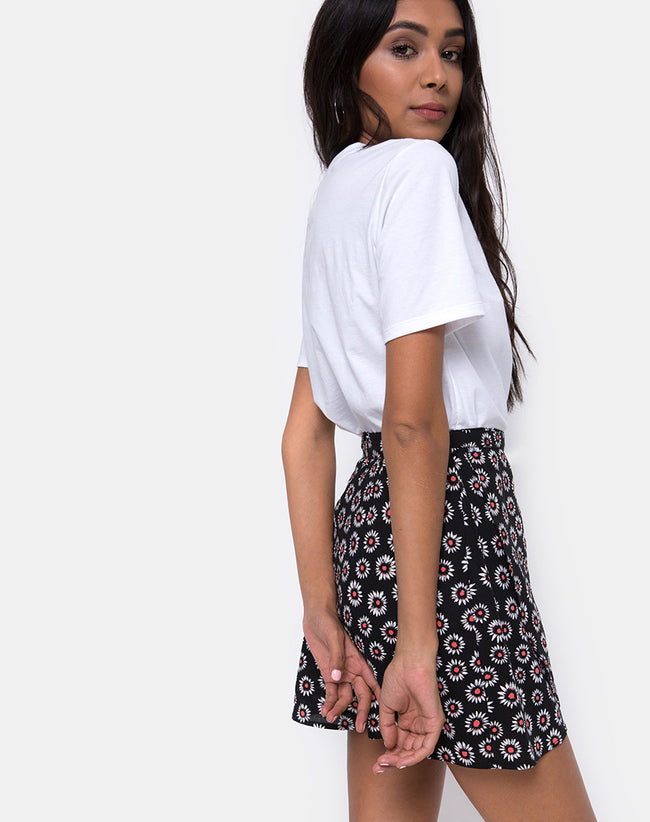 Derla Mini Skirt in Dancing Daisy by Motel