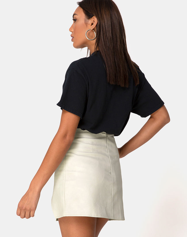 Wren Mini Skirt in Pu Matte Grey