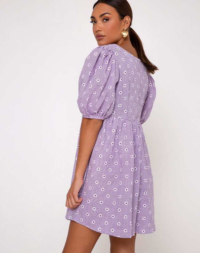 Wretta Dress in Daisy Field Lavender