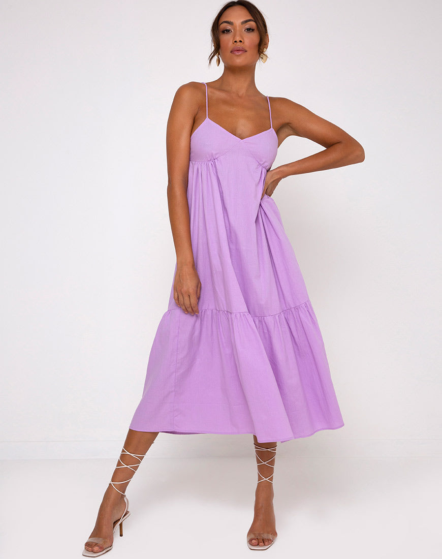 Xier Midi Dress in Lilac by Motel 2