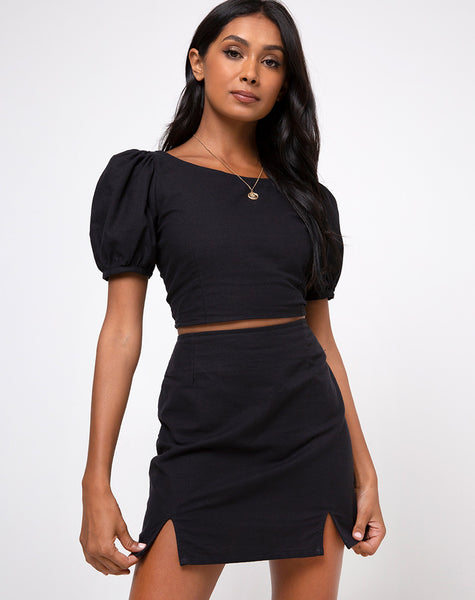 Yonna Crop Top in Black by Motel