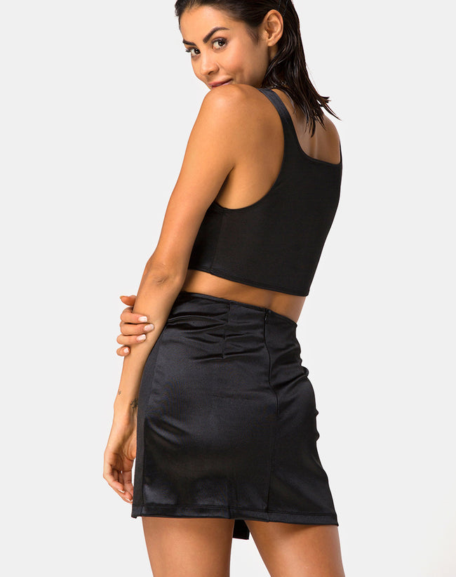 Zaid Mini Skirt in Black By Motel