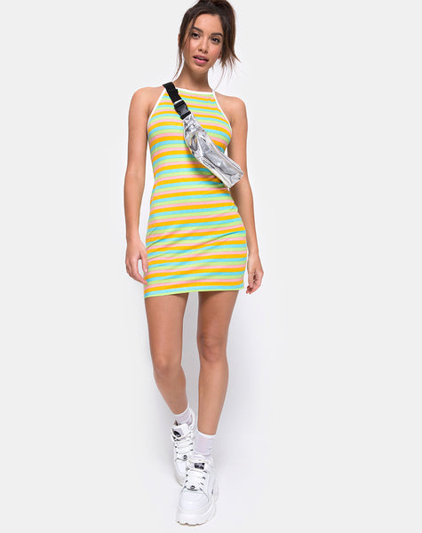 Zamora Bodycon Dress in Sweet Stripe by Motel