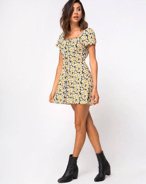 Zavacca Dress in Delightful Daisy by Motel