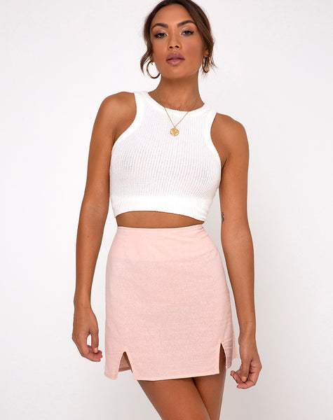 Zila Mini Skirt in Peach