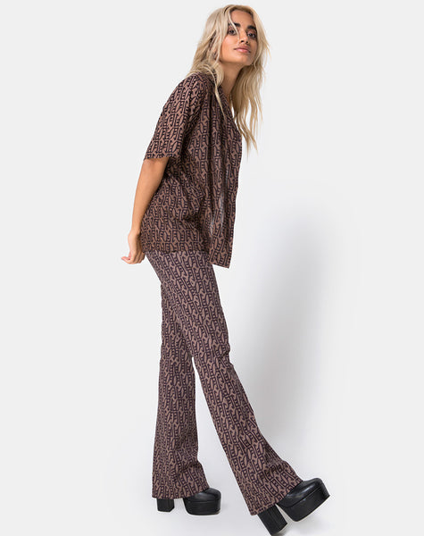 Zolia Highwaisted Trousers in Chinese Moon By Motel