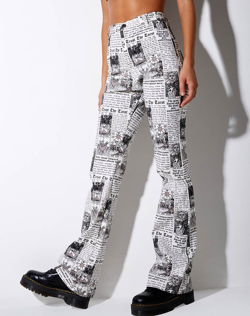 Zoven Flare Trouser in Tarot by Motel 2