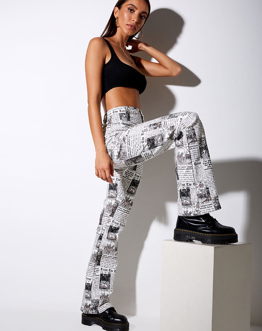 Zoven Flare Trouser in Tarot by Motel