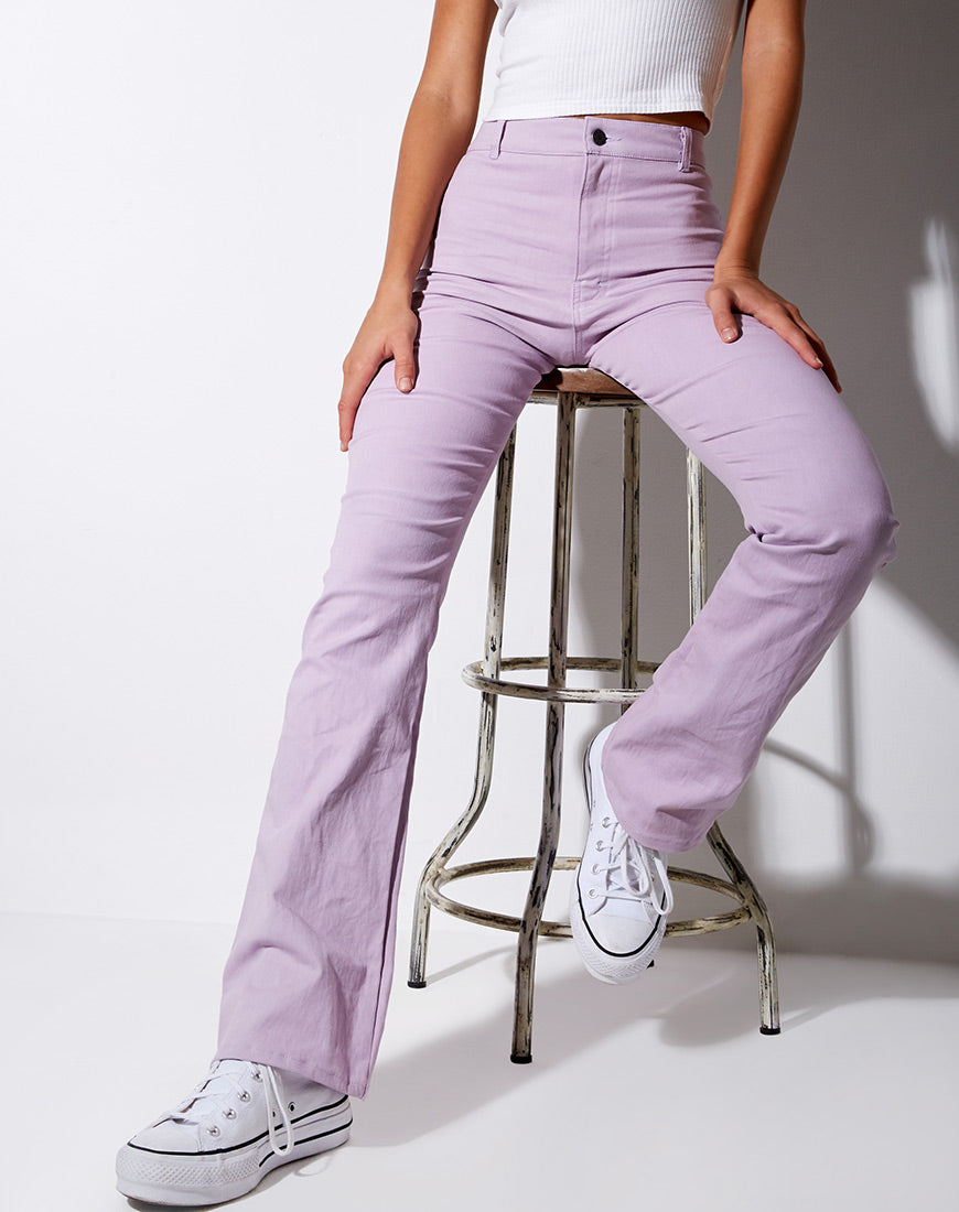 Zoven Trouser in Violet by Motel 14