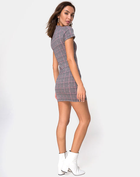 Zileah Shift Dress in Charles Check Blush