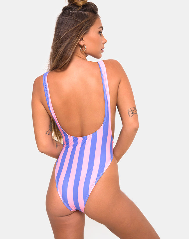 Goddess Swimsuit in Fairground Stripe by Motel