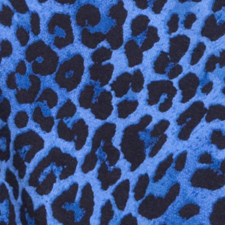 Sunny Kiss Oversize Tee in Leopard Royal Blue
