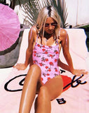 Yadira Swimsuit in Candy Rose by Motel