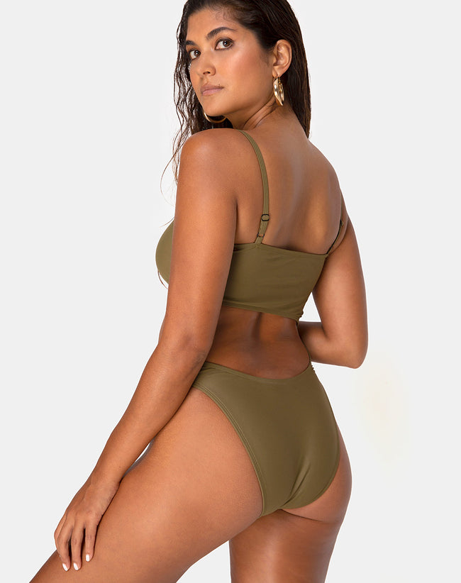 Zamia Swimsuit in Matte Khaki by Motel