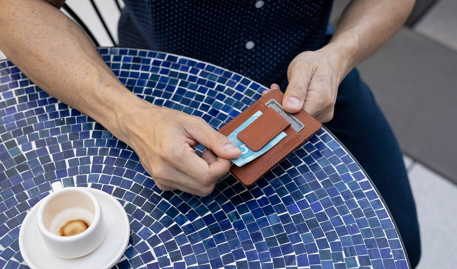 Slate Collection - The BRINNON™ Money Clip Wallet - Midnight
