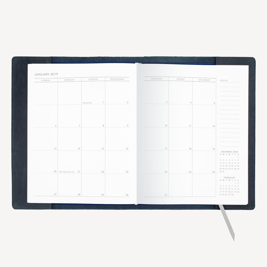The NORTHGATE™ Refillable 2019 Agenda - Large - Indigo