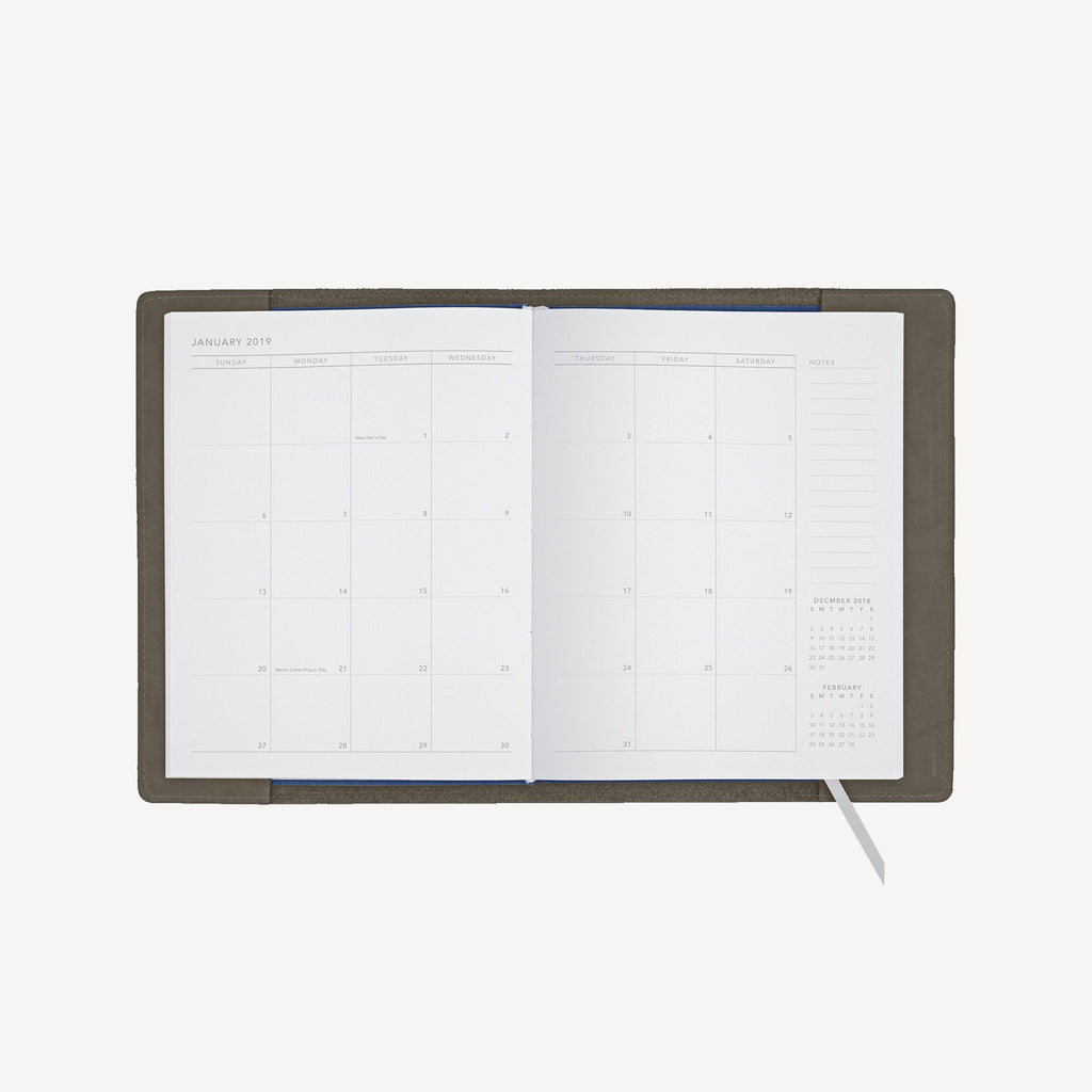 The NORTHGATE™ Refillable 2019 Agenda - Small - Slate Grey